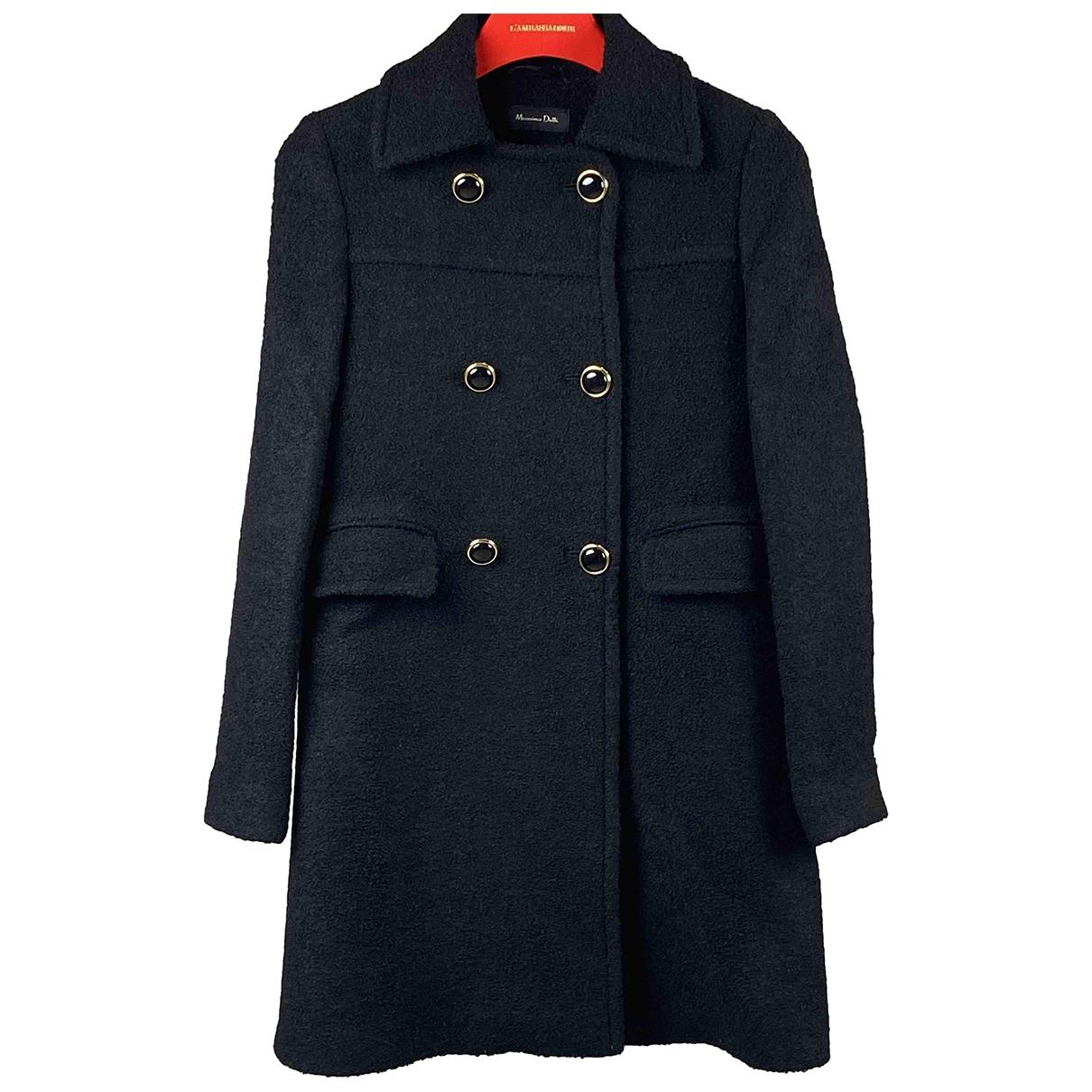 Massimo Dutti \N Black Wool coat for Women 36 IT