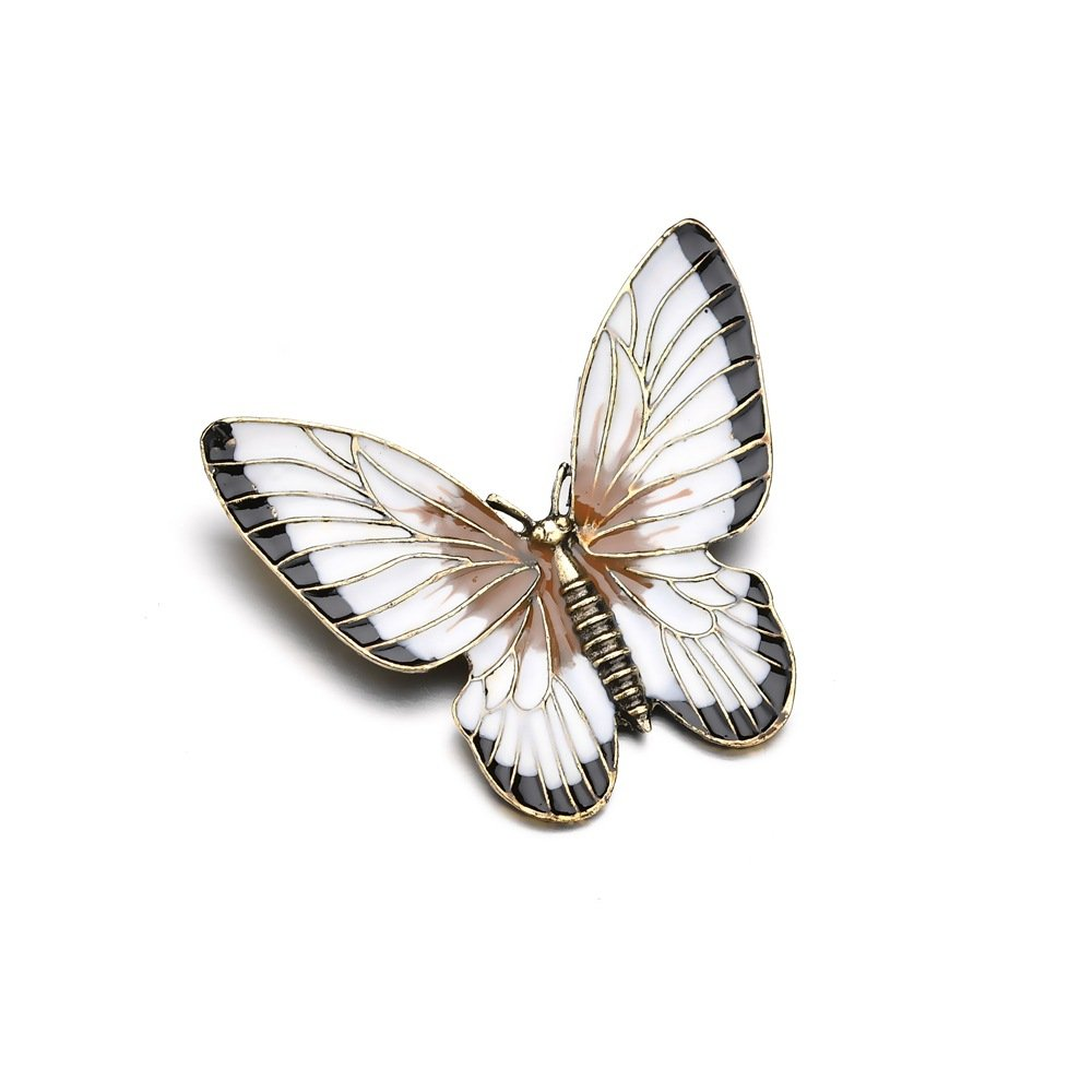 Elegant Colorful Butterfly brooch Retro Antique Colthing Accessories Insert Pin Gift for Women