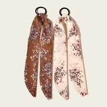2 Stuecke Haarband mit Blumen Muster
