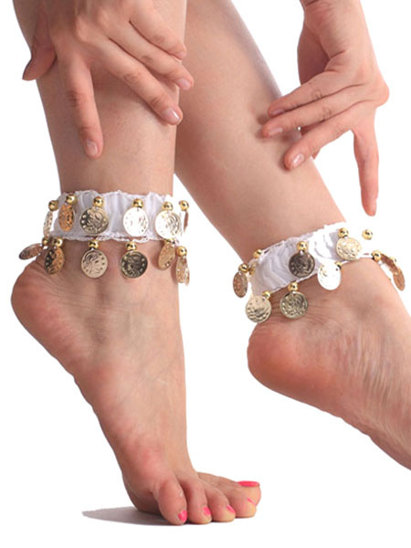 Milanoo Anklets Belly Dance Costume Red Metal Detail Bollywood Dance Accessories