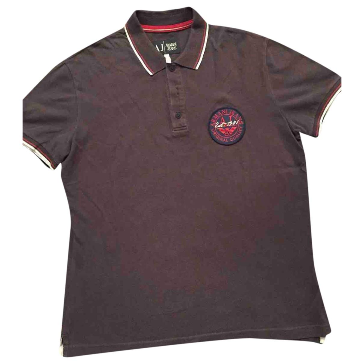 Armani Jean - Polos   pour homme en coton - marron