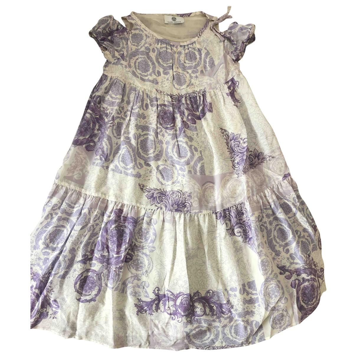 Versace - Robe    pour enfant en soie - multicolore