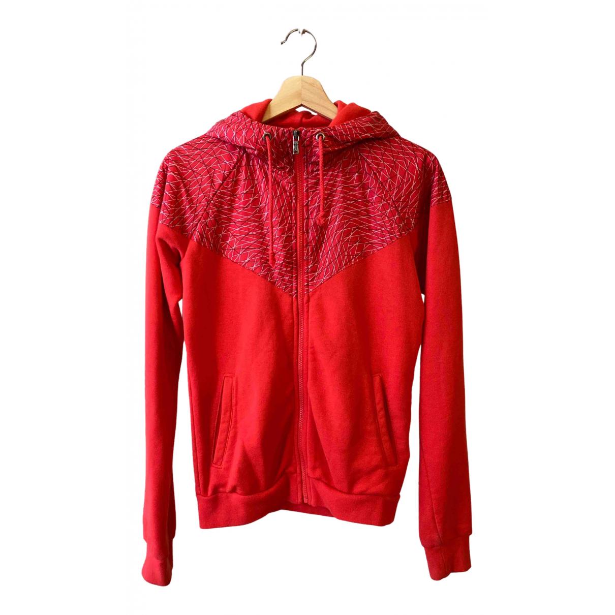 Nike - Veste   pour femme en coton - rouge