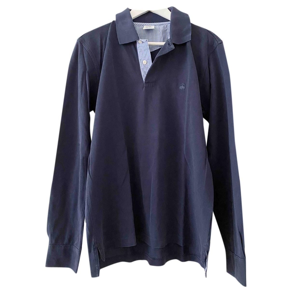 Brooks Brothers - Polos   pour homme en coton - bleu