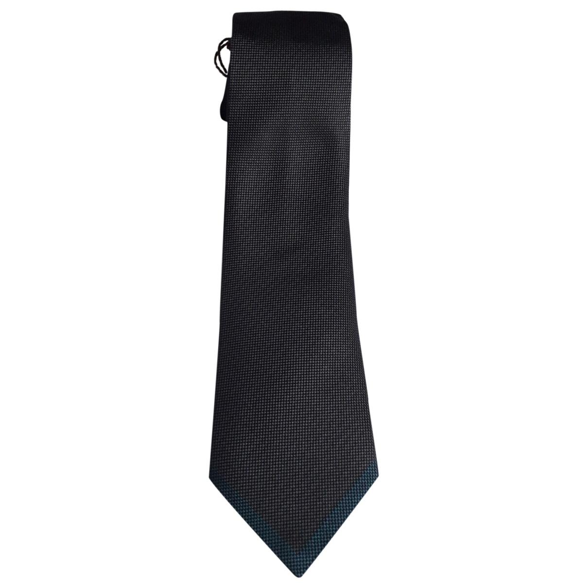 Louis Vuitton \N Krawatten in  Anthrazit Seide