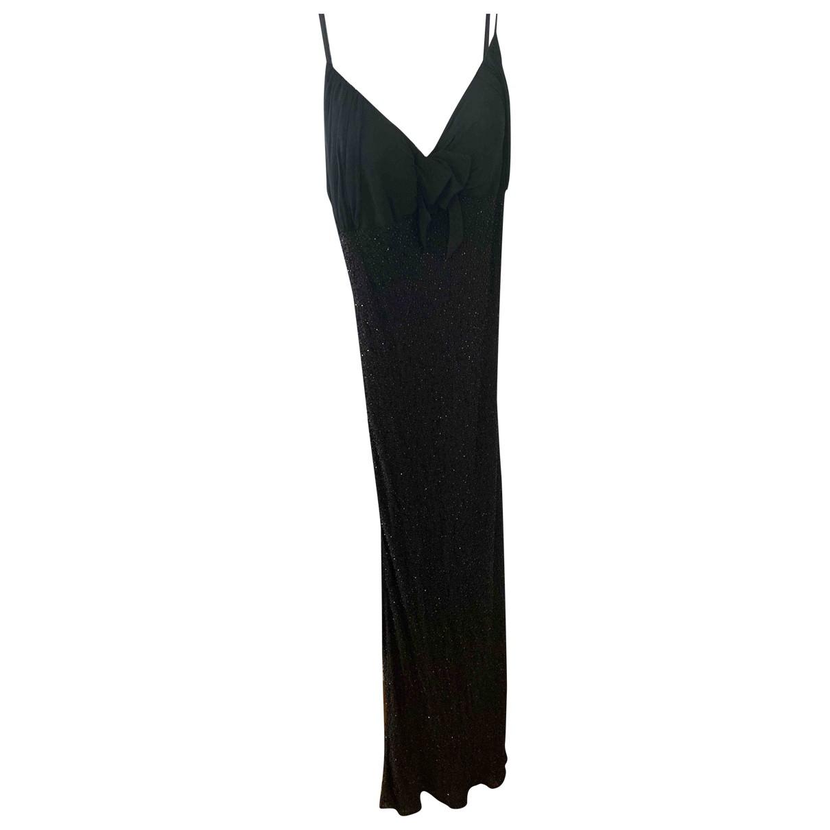 Jenny Packham \N Kleid in  Schwarz Seide