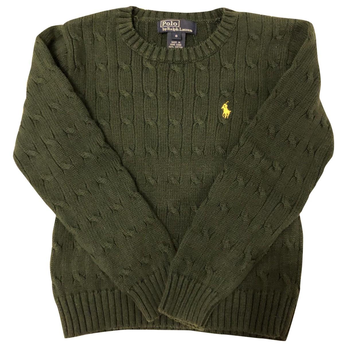 Polo Ralph Lauren - Pull   pour enfant en coton - vert