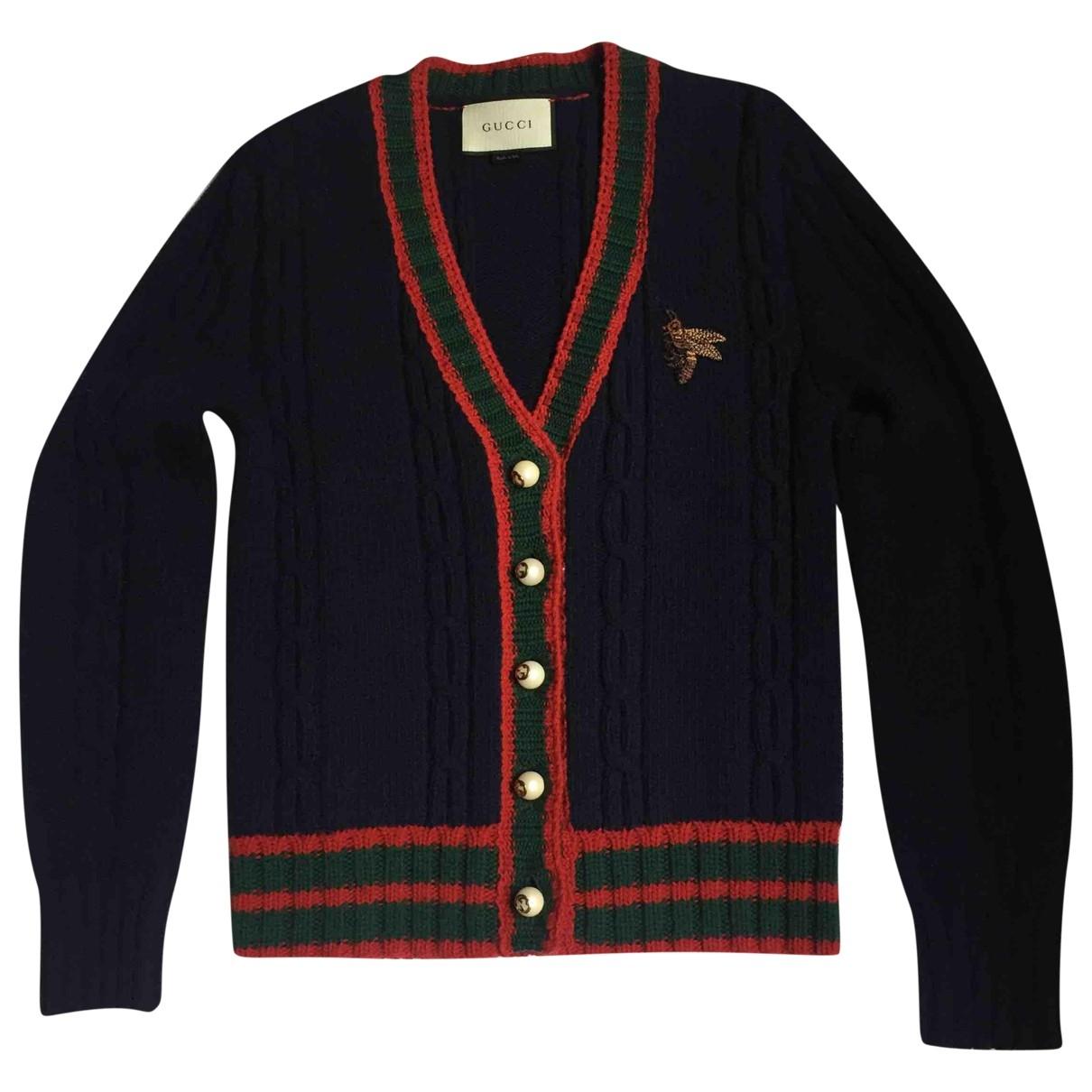 Gucci - Pull   pour femme en laine - marine