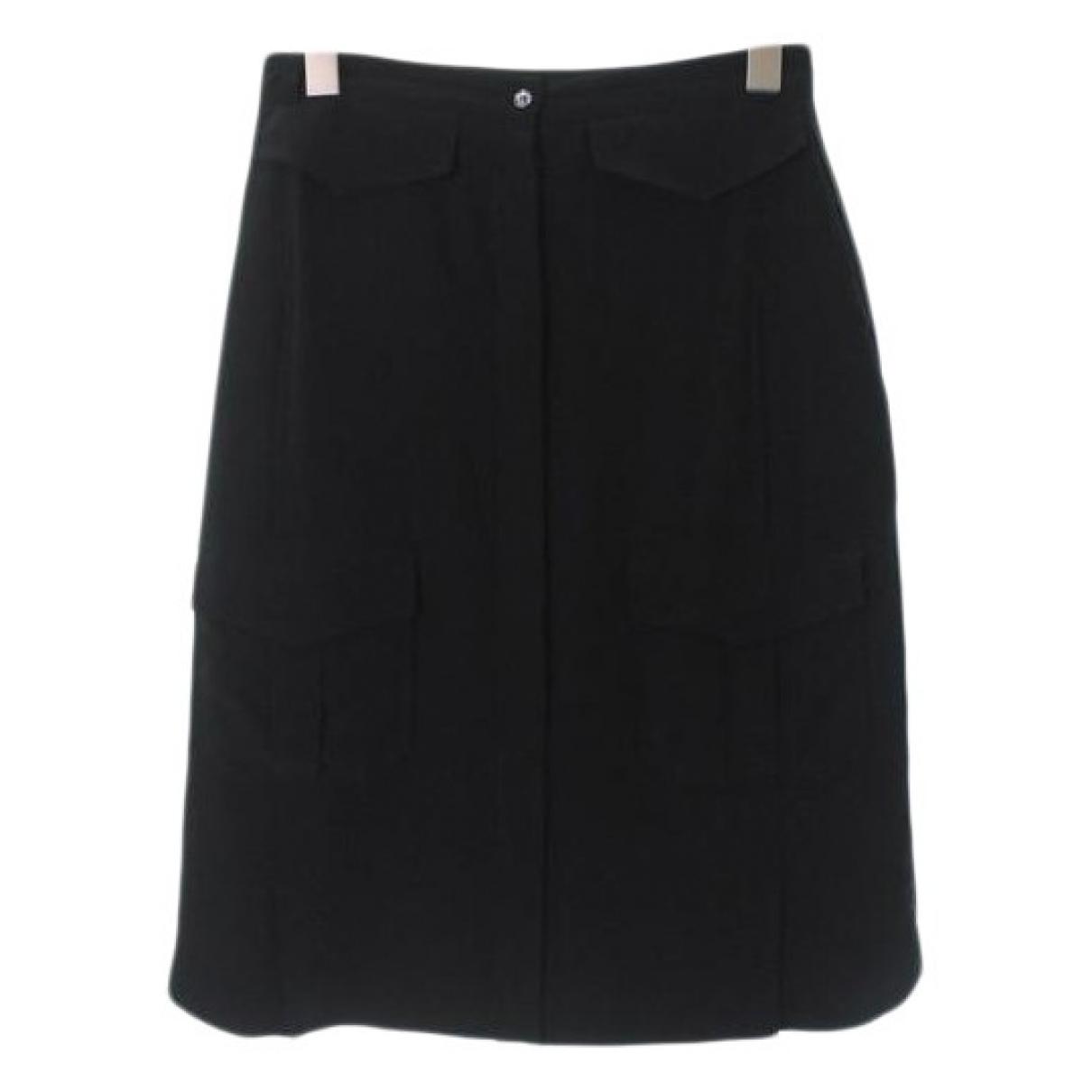Celine - Jupe   pour femme en soie - noir