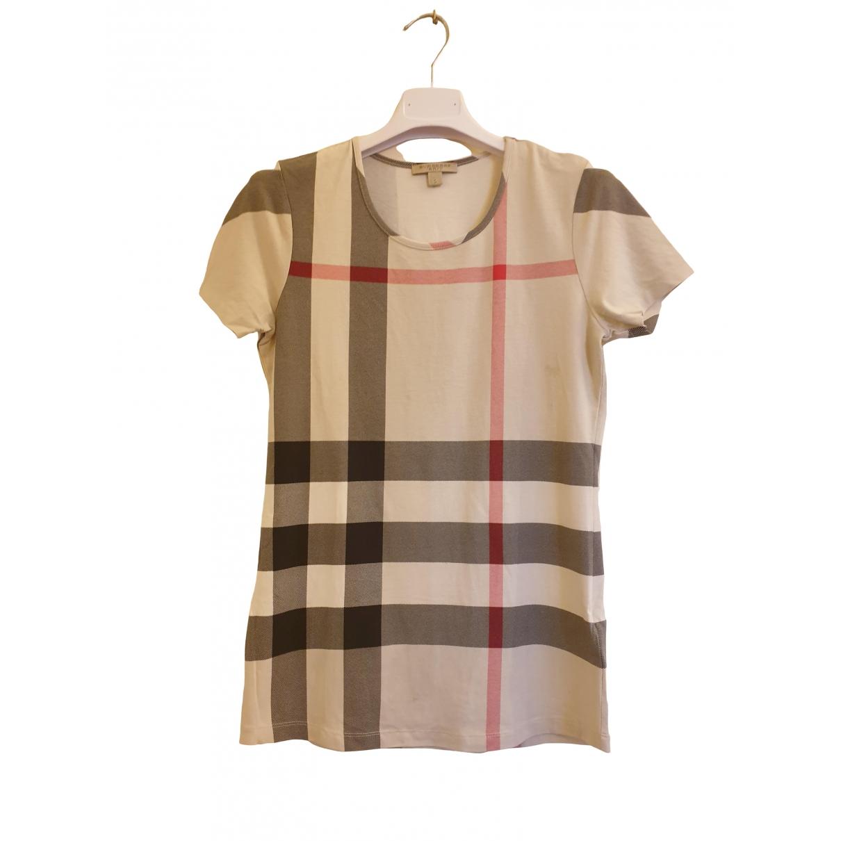 Burberry - Top   pour femme en coton - ecru