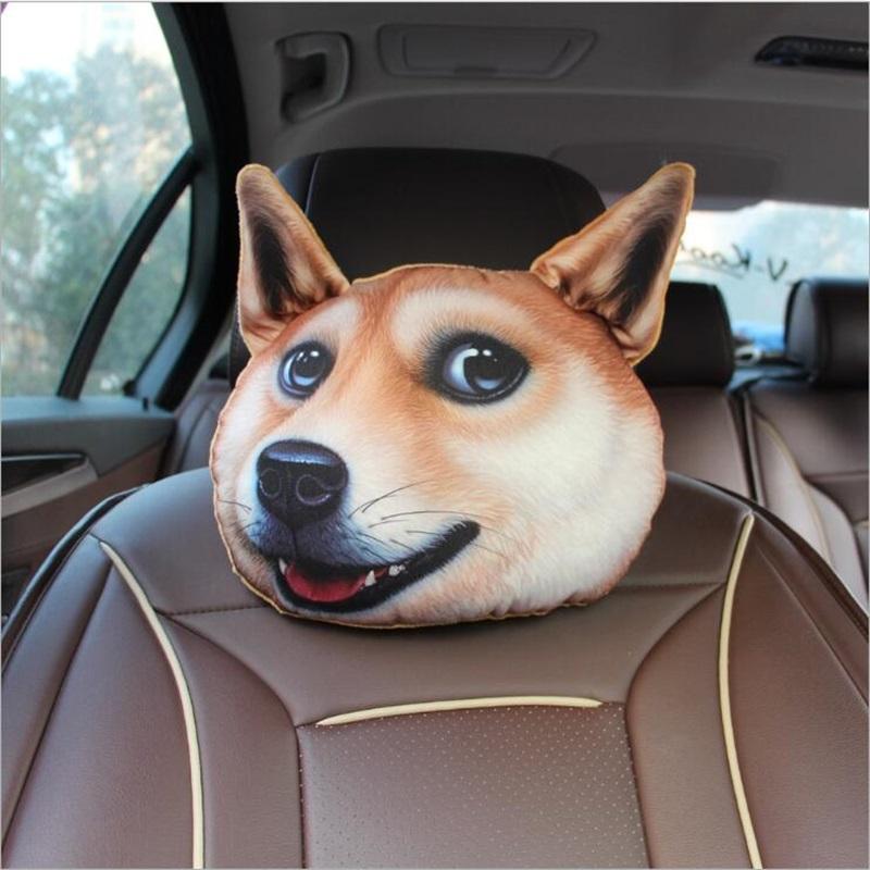 Creative 3D Animal Face Car Neck Pillow