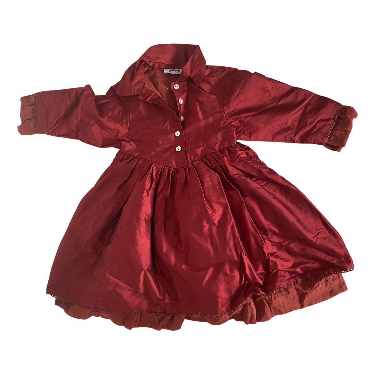 Jacadi \N Kleid in  Rot Seide