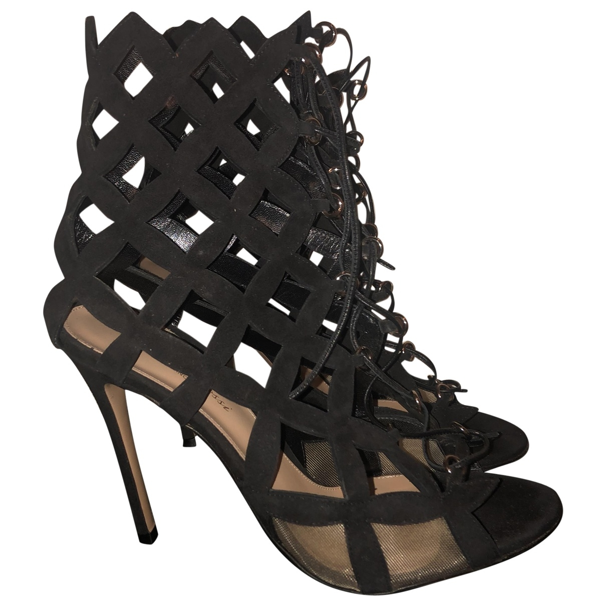 Gianvito Rossi \N Black Suede Heels for Women 40 EU
