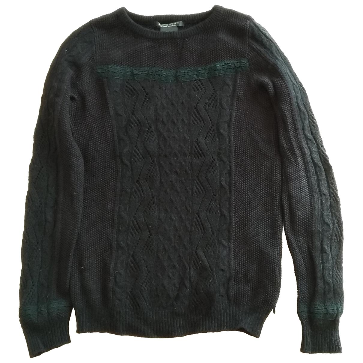 Maison Scotch - Pull   pour femme en laine - noir