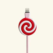 1pc Lollipop Design Phone Cable Protector