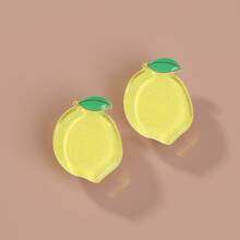 Pendientes de tachuela con limon