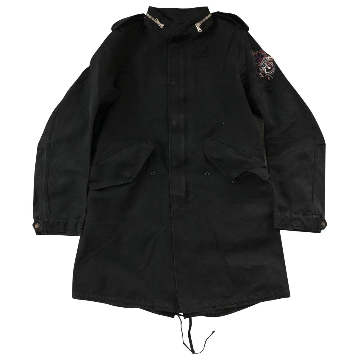 Balmain - Manteau   pour homme en coton - noir