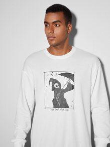 Guys Skull & Slogan Graphic Pullover