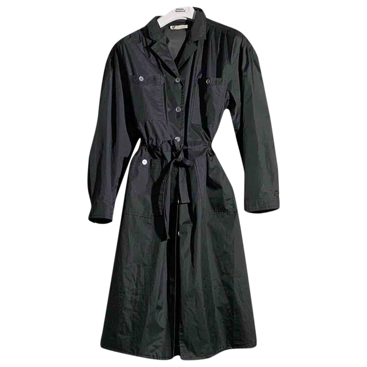Courreges \N Trench in  Schwarz Synthetik