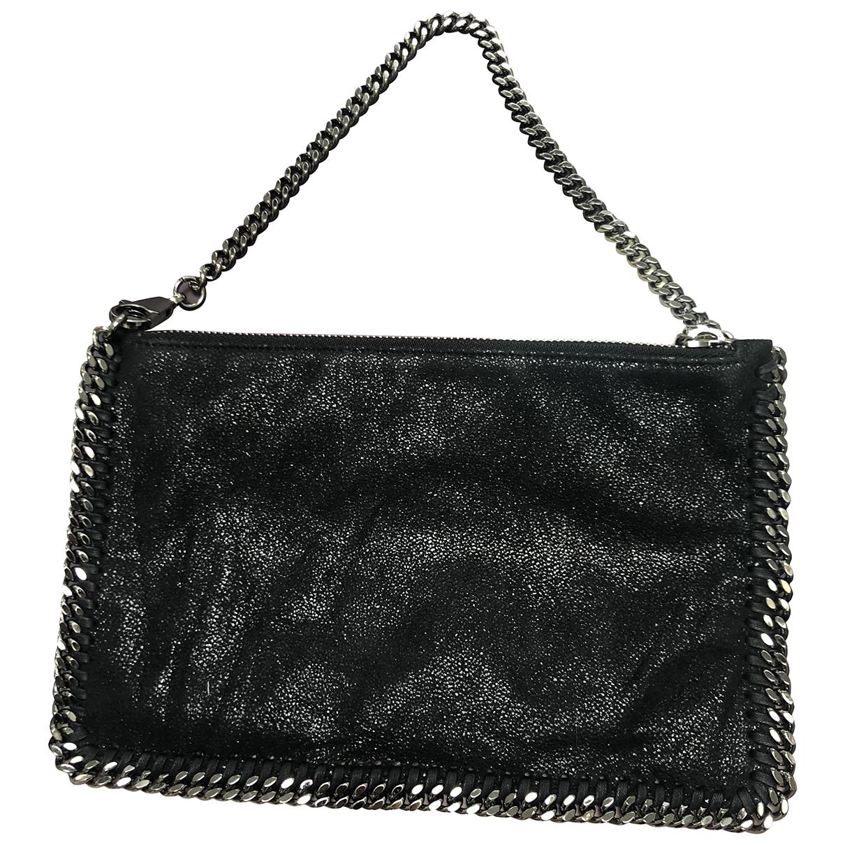 Stella Mccartney Falabella Black Cloth Clutch bag for Women \N