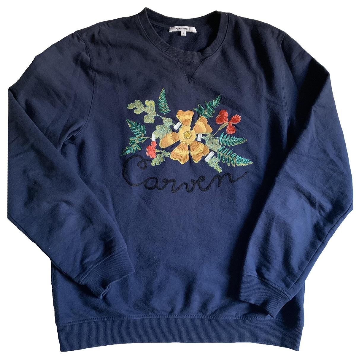 Carven \N Pullover.Westen.Sweatshirts  in  Marine Baumwolle