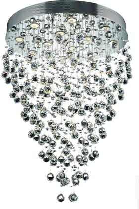 V2006D28C/EC 2006 Galaxy Collection Chandelier D:28In H:36In Lt:12 Chrome Finish (Elegant Cut
