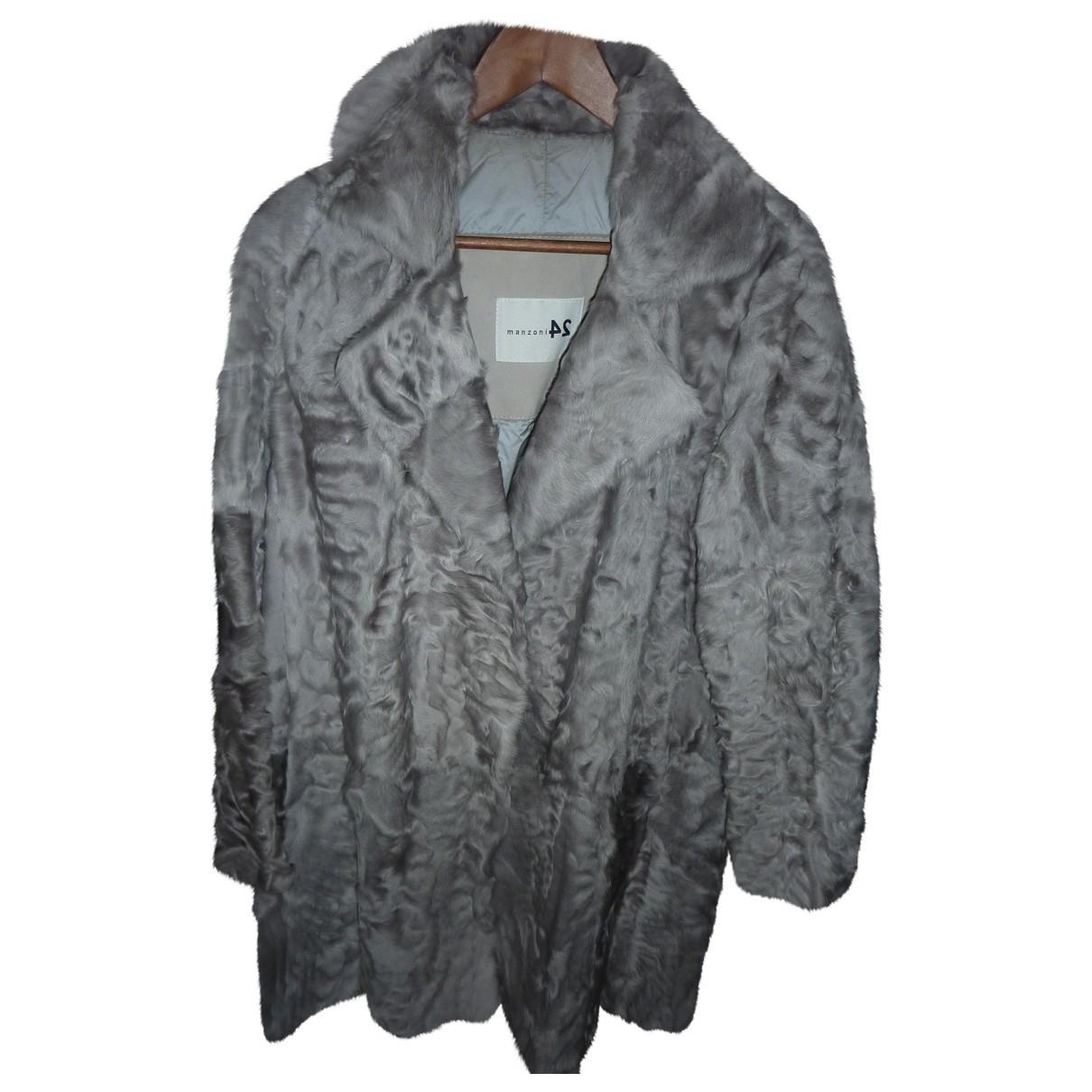 Manzoni 24 - Manteau   pour femme en fourrure - gris
