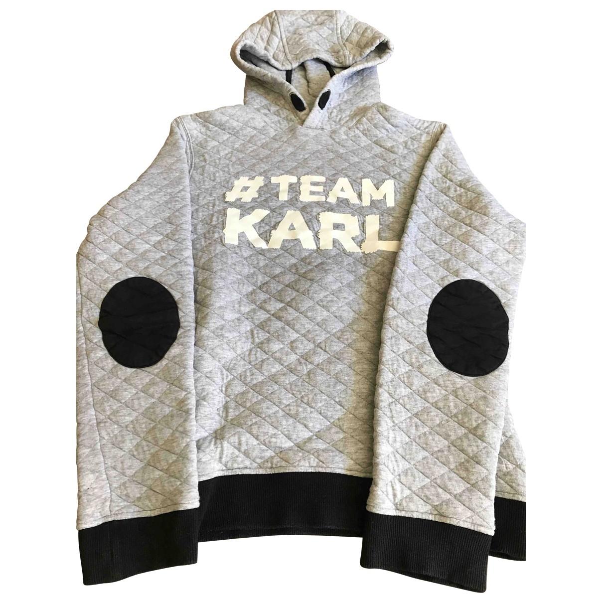 Karl Lagerfeld \N Grey Cotton Knitwear for Kids 16 years - M FR
