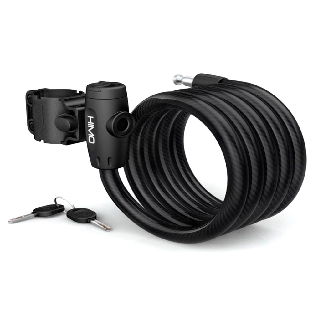 Xiaomi HIMO L150 Portable Folding Cable Lock Electric Bicycle Lockstitch - Black
