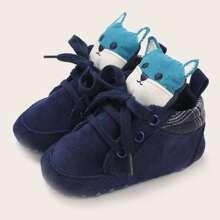 Baby Girls Cartoon Decor Sneakers