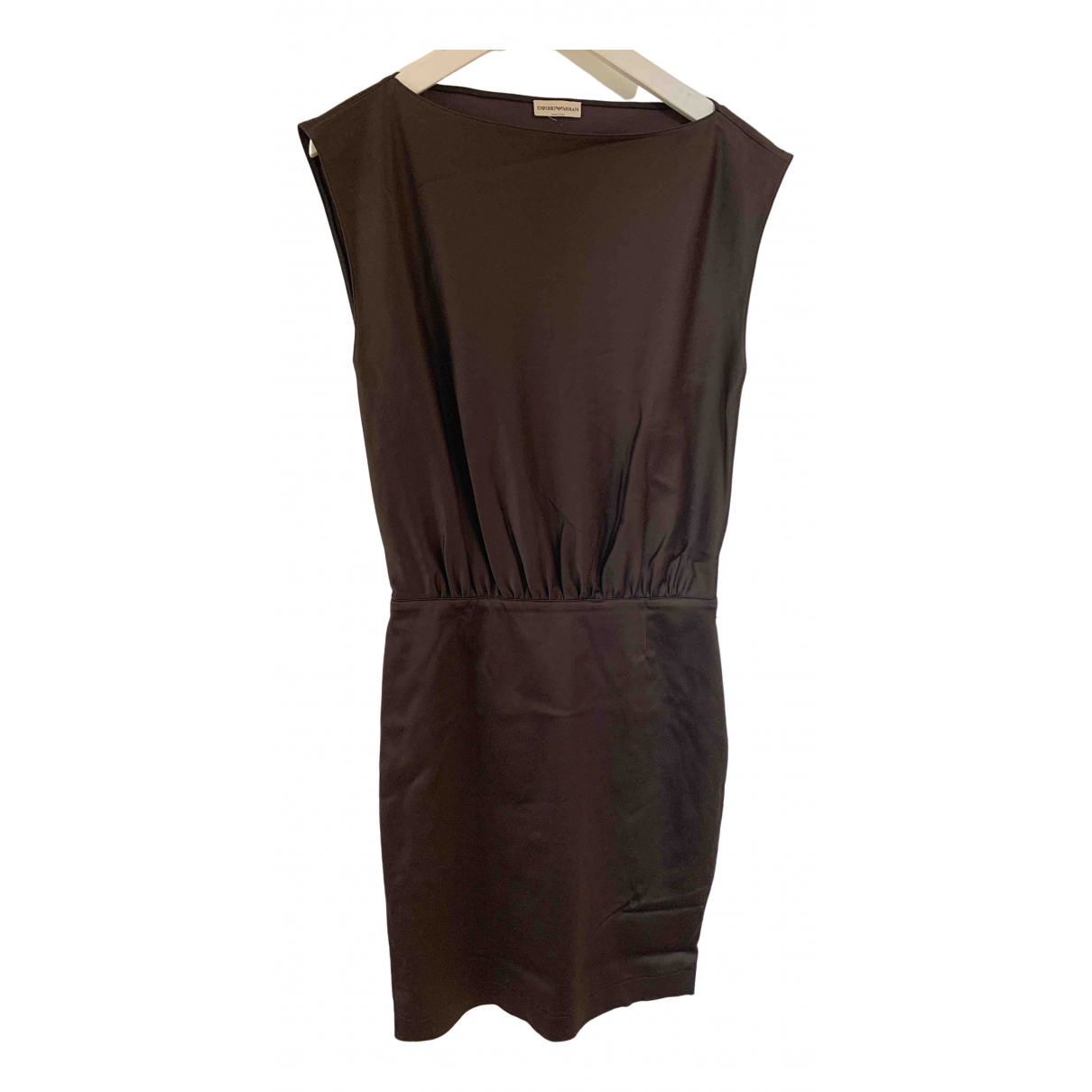 Emporio Armani \N Kleid in  Braun Synthetik