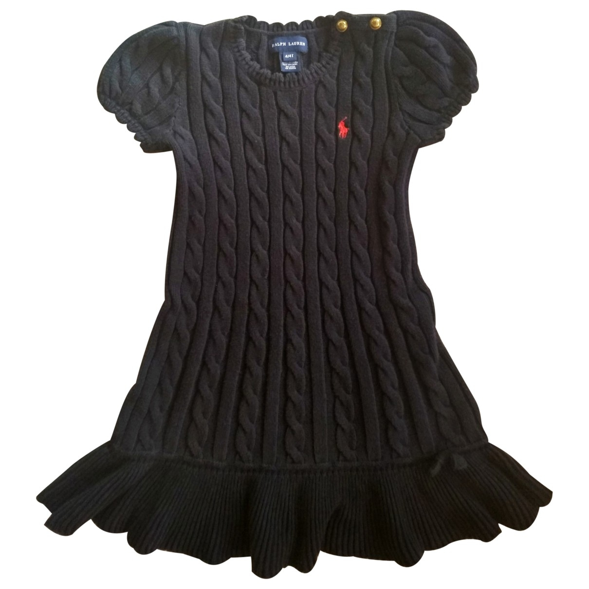 Ralph Lauren \N Blue Cotton dress for Kids 4 years - up to 102cm FR