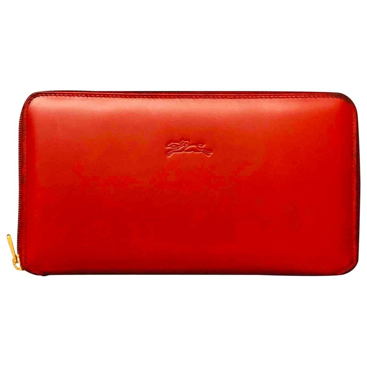Longchamp - Portefeuille Roseau pour femme en cuir - rouge