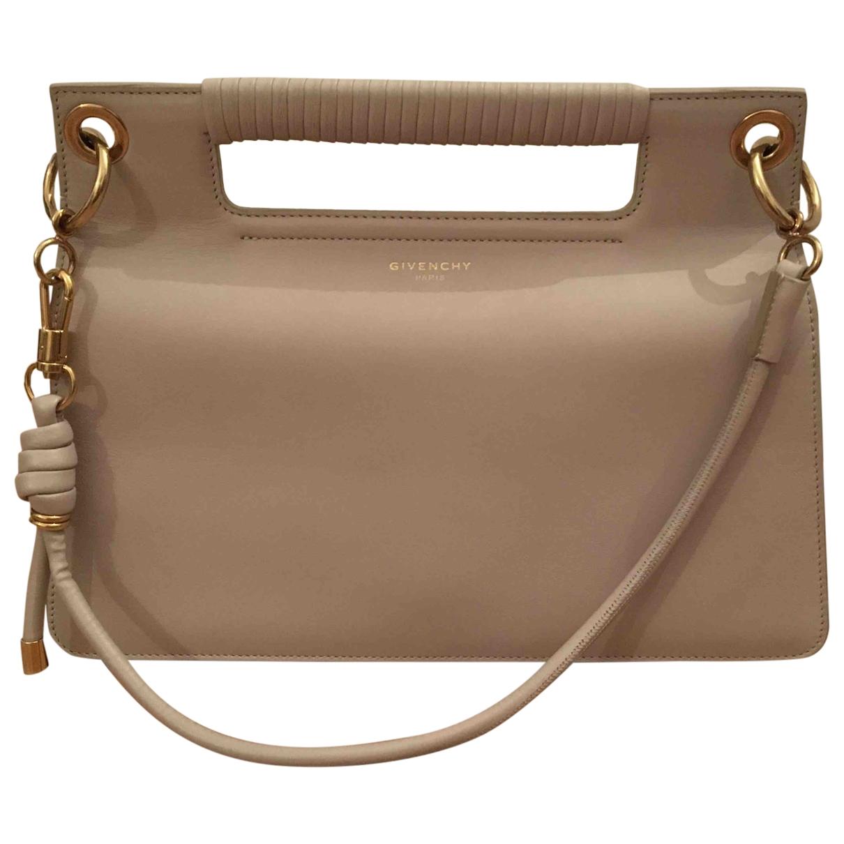 Givenchy - Sac a main Whip pour femme en cuir - beige