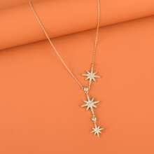 Collar colgante de estrella con diamante de imitacion