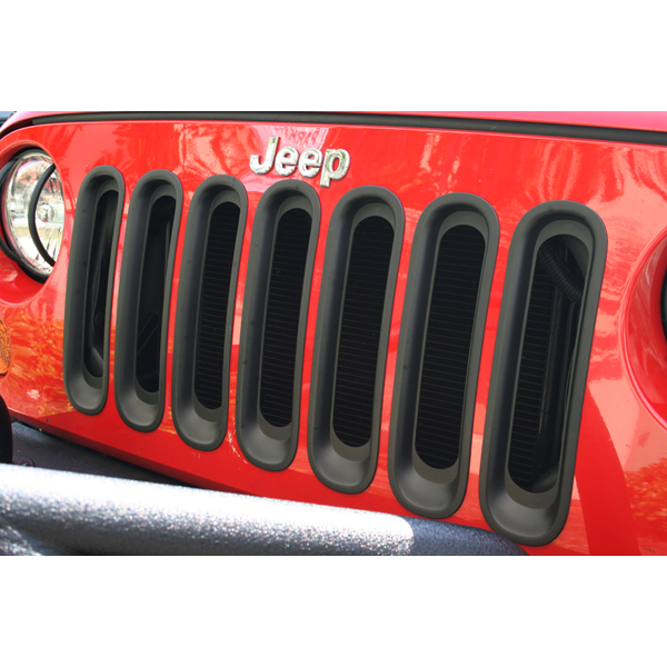 Rugged Ridge 11306.3 Grille Inserts, Black; 07-16 Jeep Wrangler JK Jeep Wrangler 2007-2016