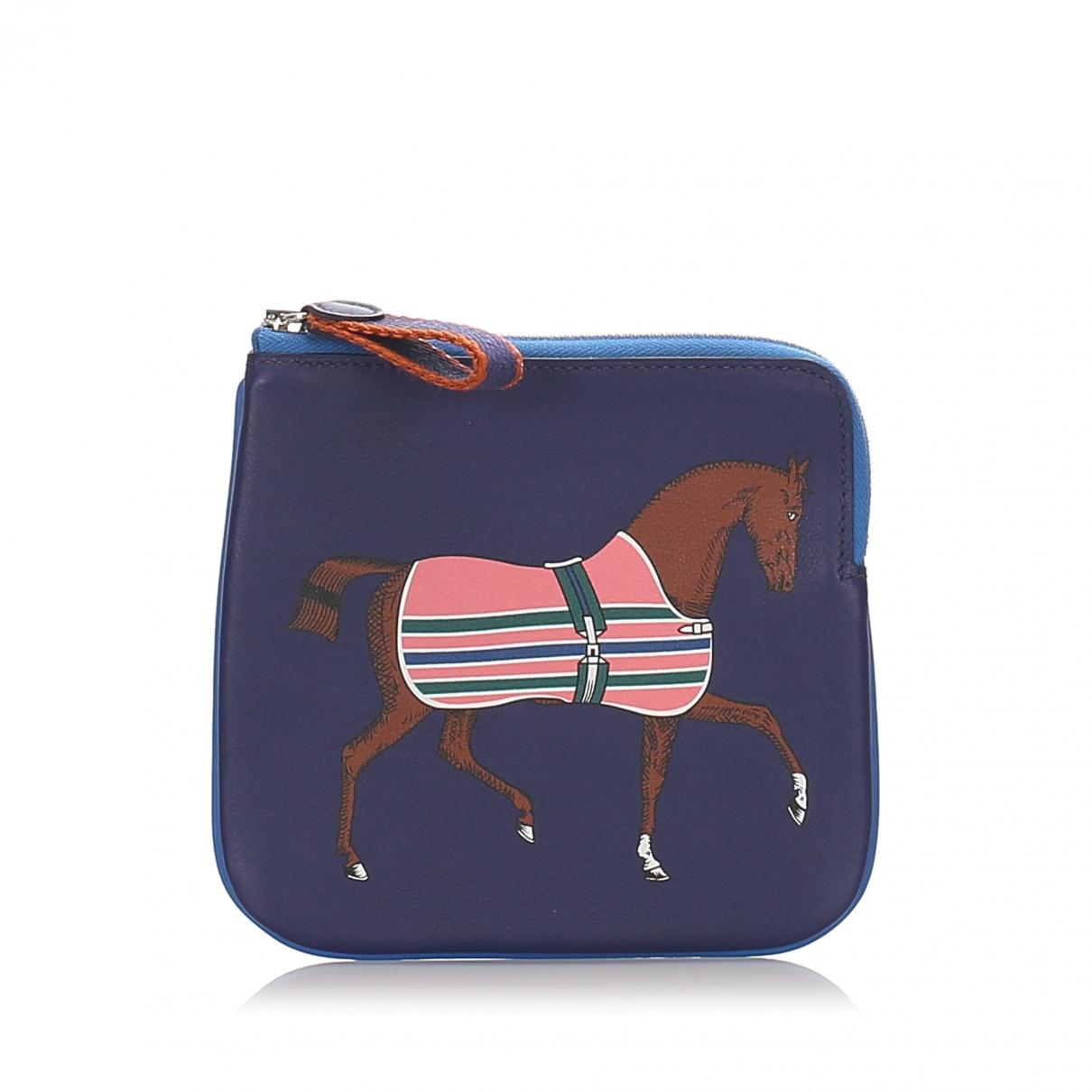 Hermès \N Blue Leather Clutch bag for Women \N