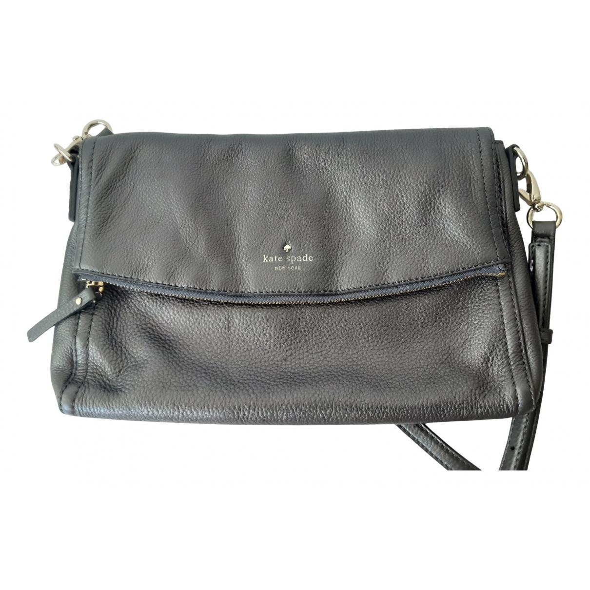 Kate Spade \N Handtasche in  Grau Leder
