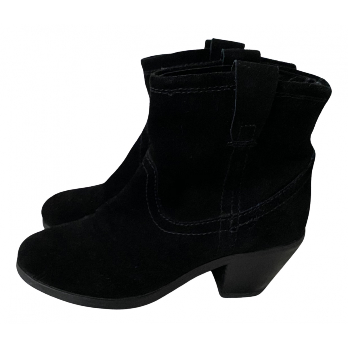 Ash N Black Suede Ankle boots for Women 37 EU