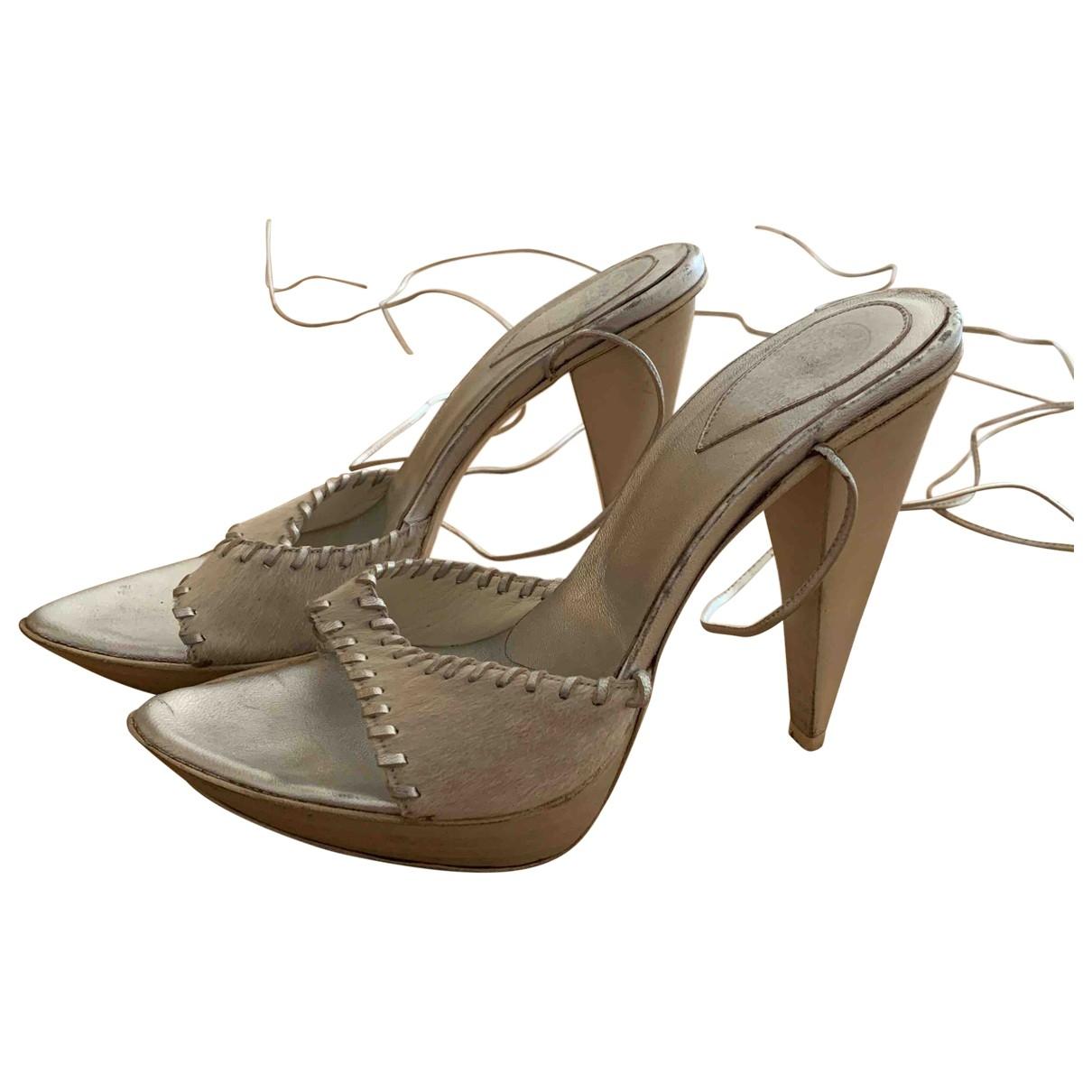 Sandalias de Piel de potro de imitacion Gianni Bravo