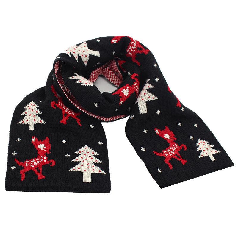 Christmas Style Pattern Knit Toddler Knit Boys Girls Scarves