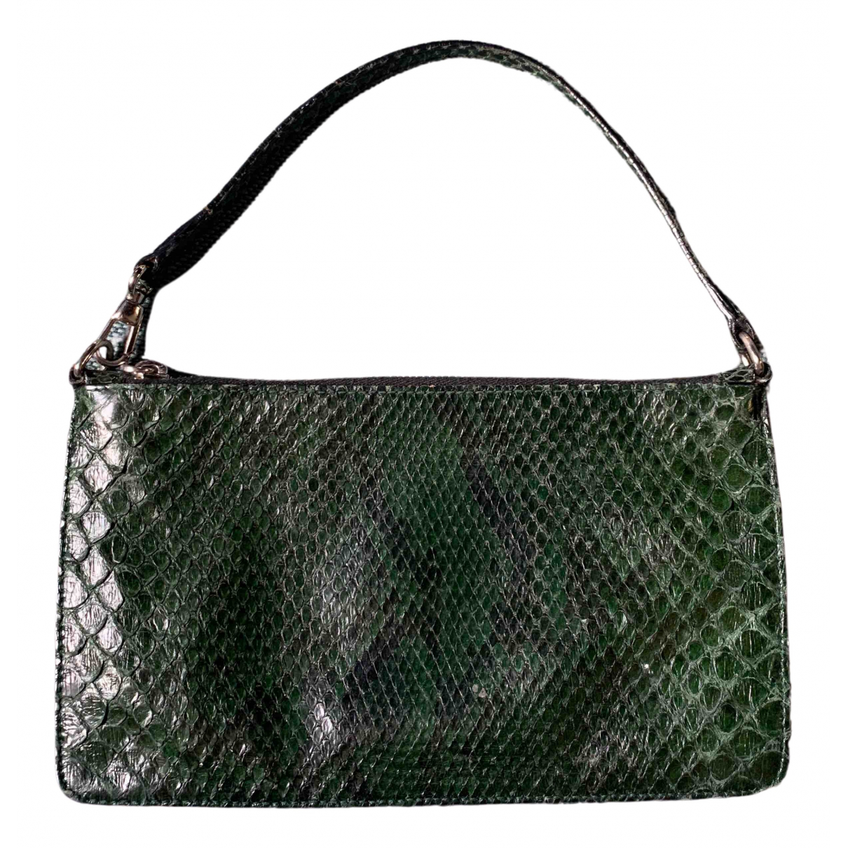 Alaïa \N Green Water snake Clutch bag for Women \N