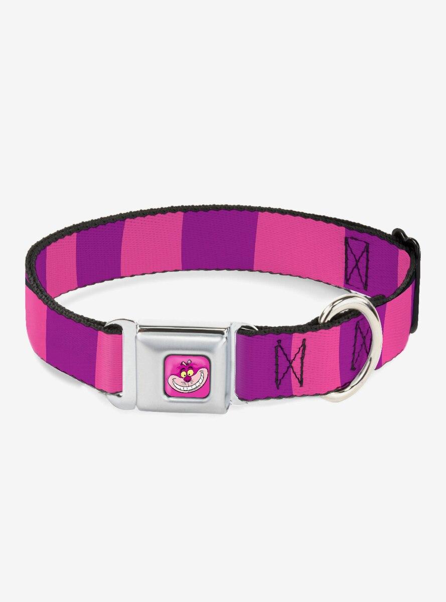 Disney Alice In Wonderland Cheshire Cat Striped Seatbelt Buckle Dog Collar