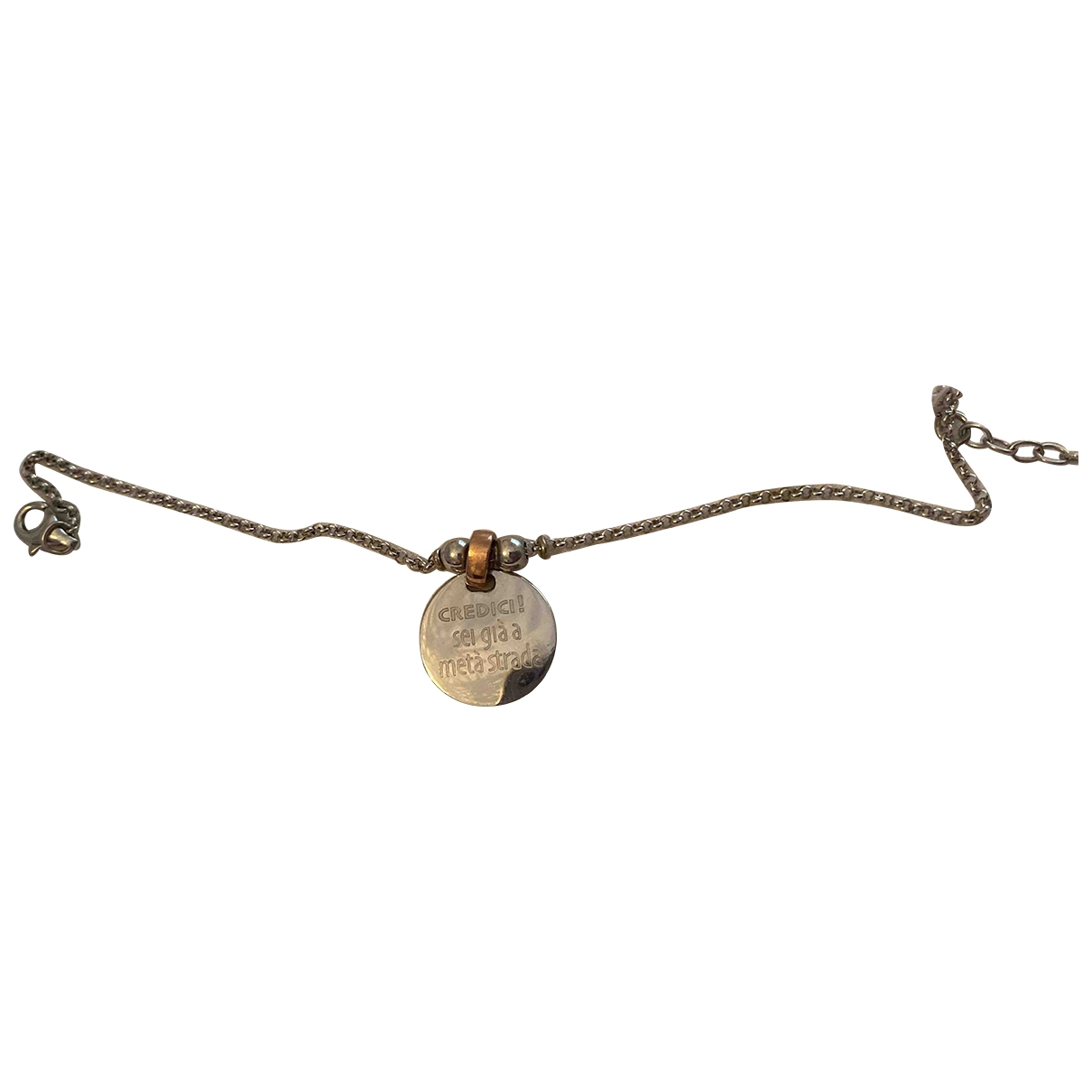 Non Signe / Unsigned Medailles Armband in  Silber Silber