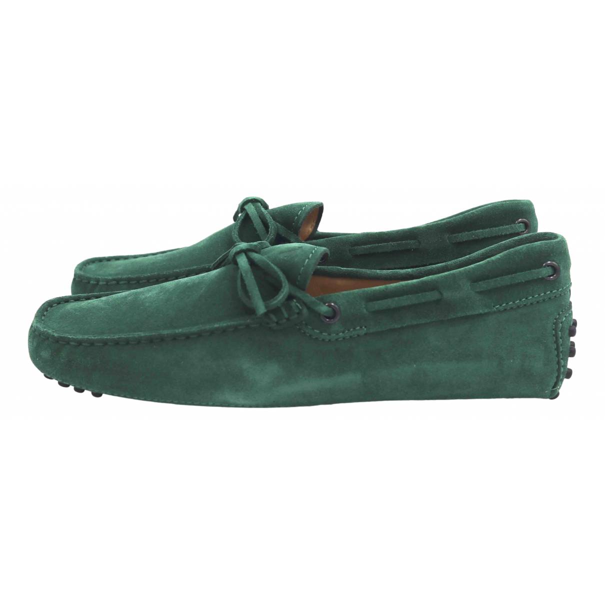 Tod's N Green Suede Flats for Men 5 UK