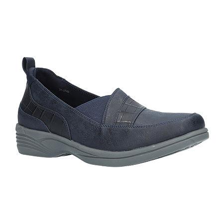 Easy Street Womens Fernly Slip-On Shoe, 8 Medium, Blue