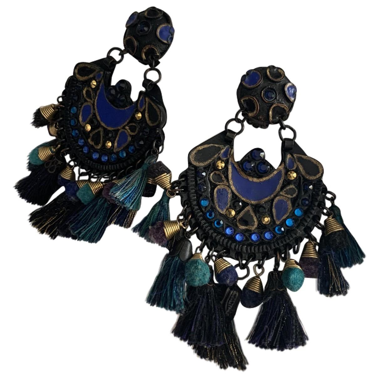 Gas \N Black Metal Earrings for Women \N