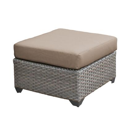 TKC055b-O-WHEAT Florence Ottoman with 2 Covers: Grey and