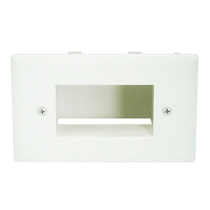 Easy Mount Low Voltage Cable Recessed Wall Plate, Lite Almond - Monoprice®