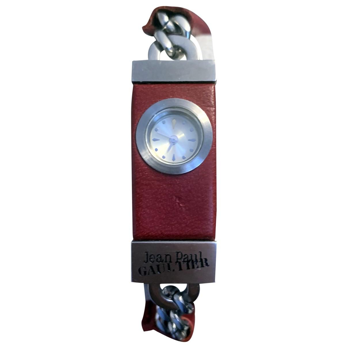 Jean Paul Gaultier \N Burgundy Steel watch for Women \N